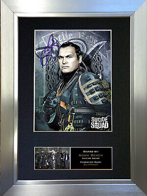 SUICIDE SQUAD Slip Knot Adam Beach Signed Autograph Mounted Photo Re Print 626