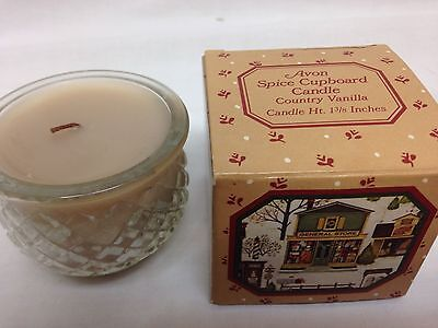 Vintage Avon NOS Spice Cupboard Candle Country Vanilla ChristmasUnused
