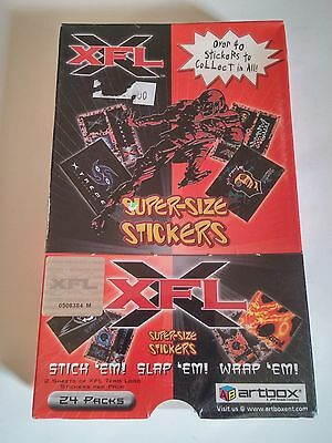 *NEW* OFFICIAL XFL Super-Sized Team Logo Stickers - 24 Packs - FACTORY SEALED