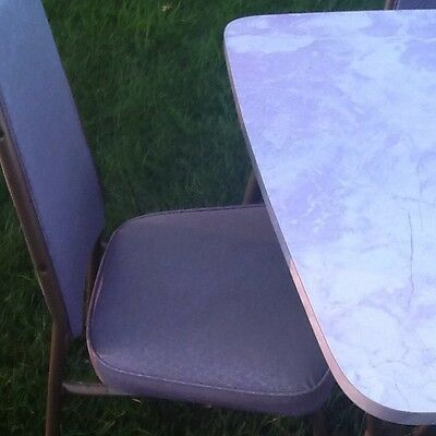 VINTAGE Furniture PURPLE FORMICA kitchen TABLE Set MID-CENTURY MODERN & 6 chairs