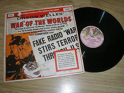 orson welles war of the worlds, rare charisma label uk 1969