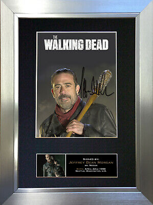 NEGAN J DEAN The Walking Dead Signed Autograph Mounted Photo Repro A4 Print 633