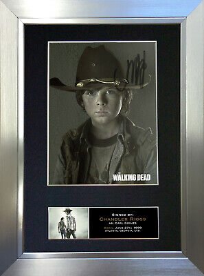 CARL GRIMES The Walking Dead Signed Autograph Mounted Photo Repro A4 Print 634