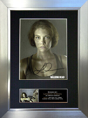 LAUREN COHAN The Walking Dead Signed Autograph Mounted Photo Repro A4 Print 635