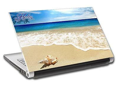 Exotic Beach Waves Personalized LAPTOP Skin Vinyl Decal Sticker ANY NAME L247