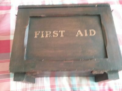 1938 wooden first aid box