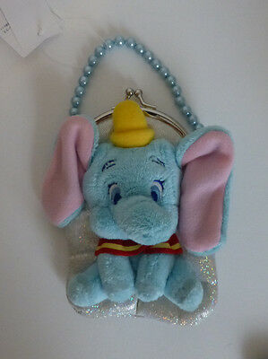 Japan Disney Baby Dumbo Sparkle Name Star Pearl Beads Coin Purse