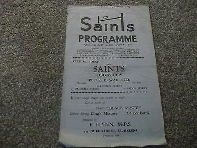 St Helens V Salford 16Th March 1959