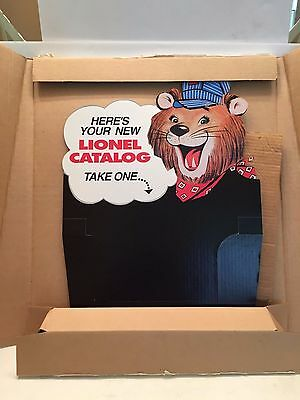 Lionel Trains Catalog Store Display Repro 1996 Unused in Shipper Lenny The Lion