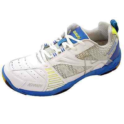 Ashaway Abs511 Seattle Court Badminton & Squash Shoe - White & Blue - Rrp £70
