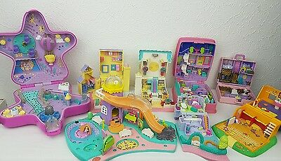 polly pocket bundle 8 × Mix Cases , Compacts . Houses