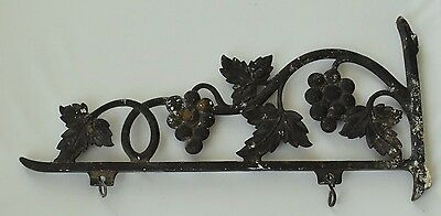 Ornate Metal 18'' Hanger Bracket 2 Sided Store Sign, Vineyard Grape Design