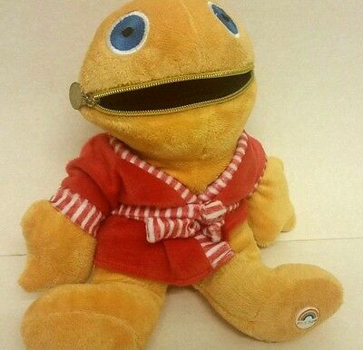 Zippy Plush from TV Show Rainbow soft toy with zipable mouth red dressing gown