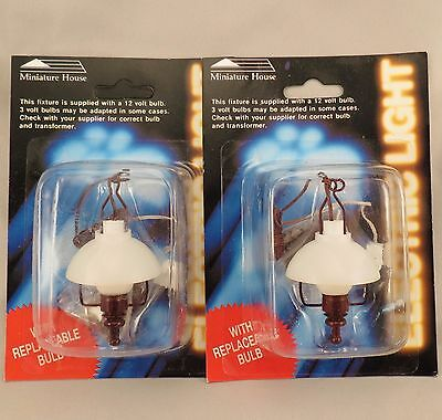 Dollhouse Miniature House Americana Hanging Lantern Lamp Lot of 2 ck3386 mh704
