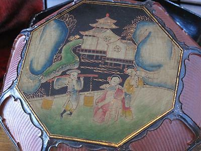 Antique Chinese Lacquered Box… with hand painted Lid...