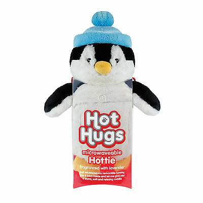 Aroma Home Hot Hugs Penguin Microwave Heated Plush Animal Hottie Soft Toy Teddy