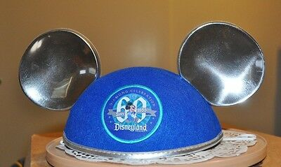 Disney Disneyland 60th Anniversary Diamond Celebration Mickey Ear Hat