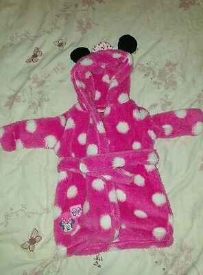 Minnie Mouse Dressing Gown, 0-3 Months