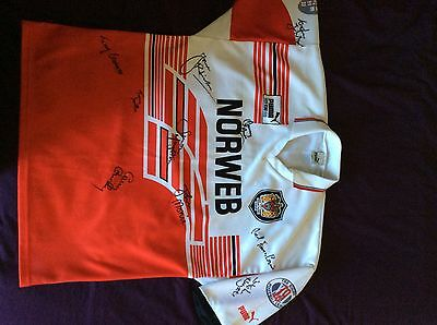 Signed Wigan rugby League shirt