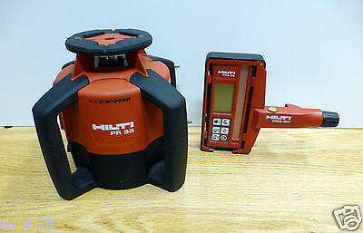 Hilti PR 35 Rotating Laser with PRA35 Remote Receiver Excellent Condition Used