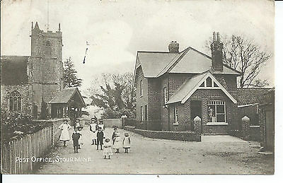 Printed postcard of the Post Office at Stourpaine Dorset in good condition.