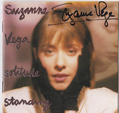 Suzanne Vega Signed Solitude Standing Cd From Barnes And Noble Appearance Nyc