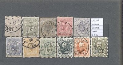 Stamps Lot Luxembourg  Used  (L12247)