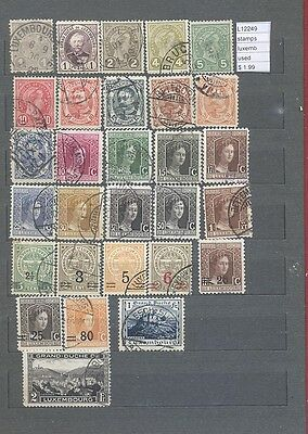 Stamps Lot Luxembourg  Used  (L12249)
