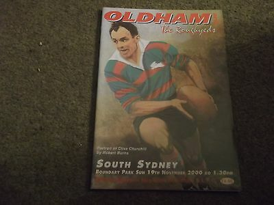 Oldham Roughyeds V South Sydney Rabbitohs Australia 19Th November 2000