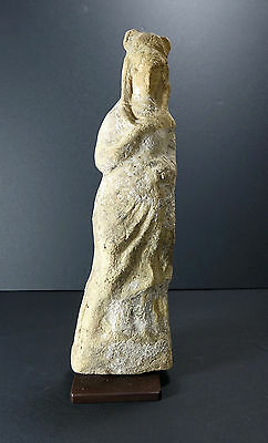 *Aphrodite Gallery* GRECO-PHOENICIAN STANDING FIGURE OF A WOMAN, 4th-3rd B.C.