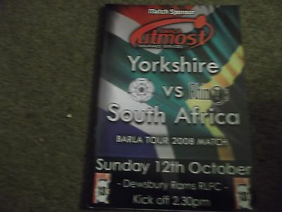 Yorkshire V South Africa Barla Tour Match @ Dewsbury Rams 12Th October 2008