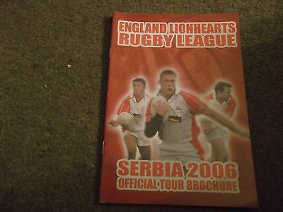 England Lionhearts Rugby League Serbia 2006 Official Tour Brochure