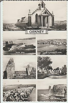Orkney - Multi View  - Scotland-  Real Photo  Postcard