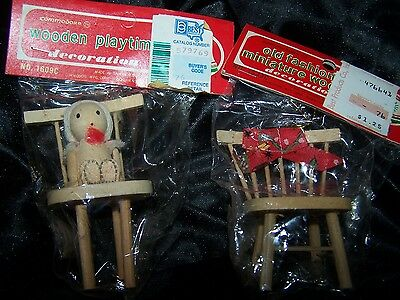 """""""Lot of 15 """" Vintage Commodore Wooden Christmas Ornaments ~`Assortment"""