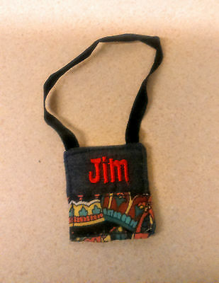 CANAL NARROW BOAT Rosie & Jim 1990s  JIM boy bag for small doll 10 inch