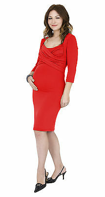 Toni™ Dress 3/4 Sleeve - Breastfeeding / Pumping Top - Flame Red - Large