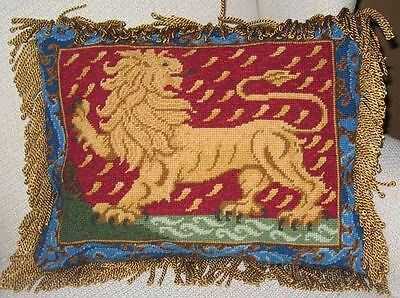 Ehrman Designer Candace Bahouth LION CUSHION Tapestry Needlepoint Chart Only