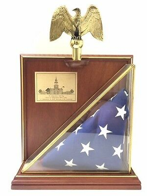 Franklin Mint Independence Hall Constitution Authentic Commerative US Flag
