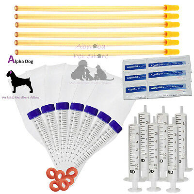 6 Flex Tip Complete AI Kits Dog ArtificiaI Insemination Tube Sheath Canine Breed