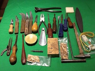 S2 Vintage Cobbler Shoemaker Shoe Repairers Leather Workers Hand Tools