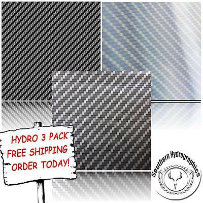 Hydrographic Film Water Transfer Printing Film Hydro Dip Carbon Hydro 3 Pack