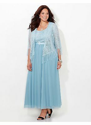 CATHERINES PLUS SIZE Moon Song Jacket Dress  26W COCKTAIL WOMENS FORMAL
