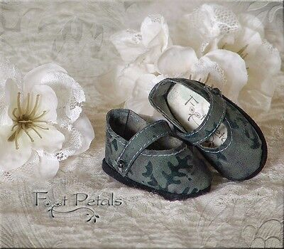 "FOOT PETALS CUSTOM Doll Shoes #30 for 13"" Effner Little Darling, Tonner Patsy"