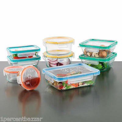 Snapware Pyrex Glass + Verre Food Storage 18pcs Set 100% Airtight and Leakproof