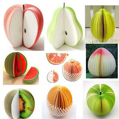 New Fashion Notes Notepad Memo Sticky Fruits Shape Portable Scratch Paper Fine