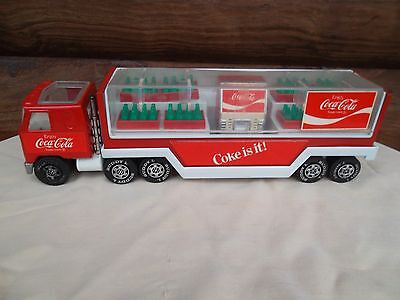 Buddy L Coca-Cola Semi Delivery Truck with Cooler and Coke Cases Coke is It 1980