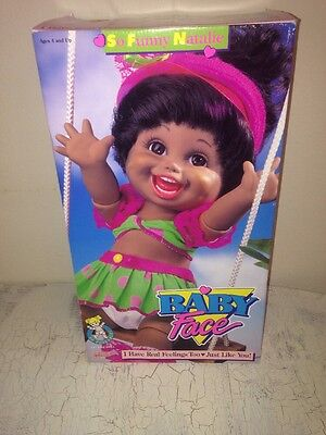 Galoob Baby Face Doll So Funny Natalie African American In Box 1990