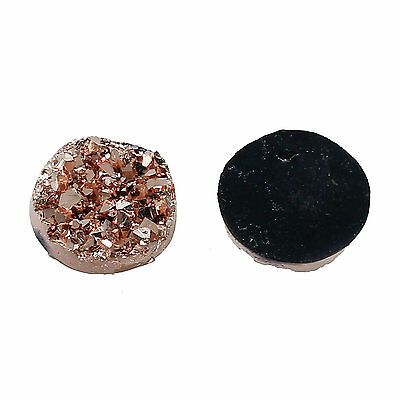 10 Druzy 12mm Cabochon Shades of Soft Rose Golds Perfect for Earrings Drusy