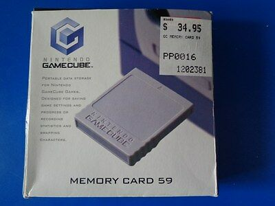 "Memory Card 59 For Nintendo GameCube and Wii ""Original Boxed""COMPLETE"