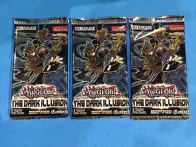3 x ( THE DARK ILLUSION ) - 1st Editon - Booster Pack - Sealed New! - Yu-Gi-Oh!